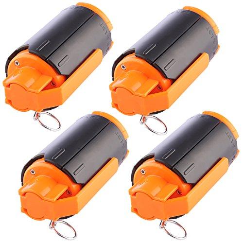 Jo322Bertram CS Granate, 4er Wasserkugeln Bombe Taktisch Kunststoff Wasserkugeln Wasserperlen Water Bullet Bomb für Nerf Spiele und CS -
