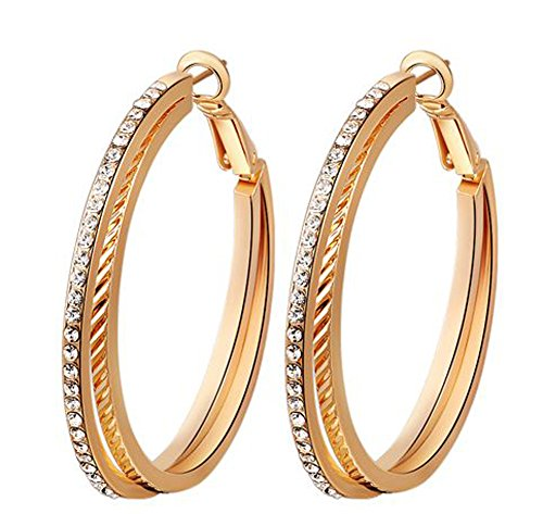 SaySure - Jewelry double Layer luxury Austrian crystal (4 Double Wall Tip)