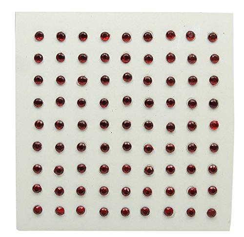 Selbstklebende runde Acryl Kristall Edelsteine Dekorative Kastanienbraune Strass Aufkleber Acryl-dekorative Edelsteine