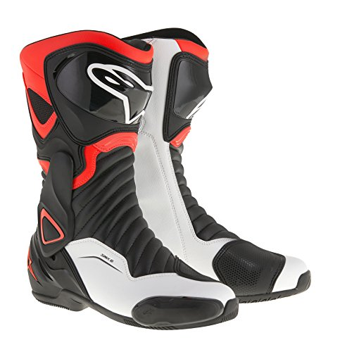 Alpinestars–Botas de moto–Alpinestars SMX de 6V2Negro Rojo Fluo Blanco