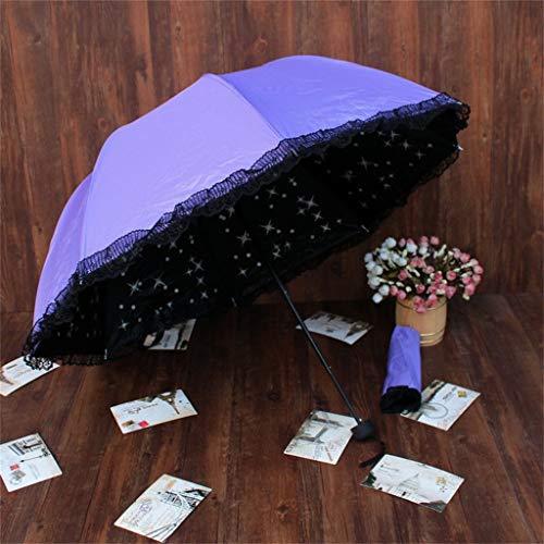 GONGFF Paraguas Hombres Y Mujeres Vinilo Prevenir