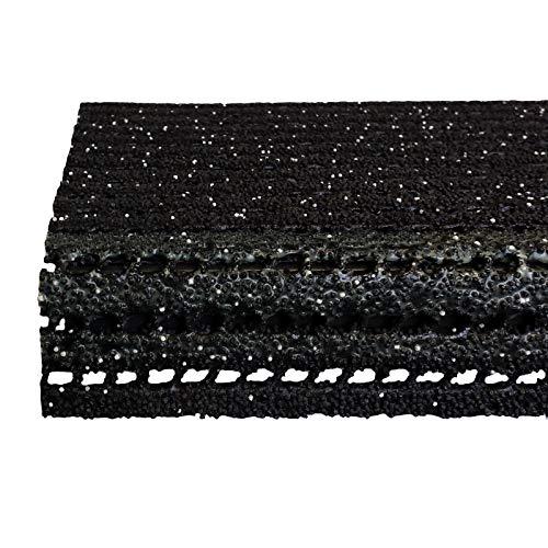 etm Stufenmatten - Sicherheitsstufenmatten für Außentreppen - nachtleuchtend - anthrazit, 25x73cm, mit Winkel