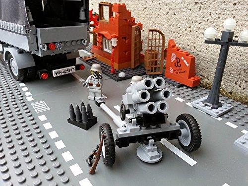 Modbrix 2182 – Bausteine Nebelwerfer 41 Stellung inkl. custom Wehrmacht Soldaten aus original Lego© Teilen - 3