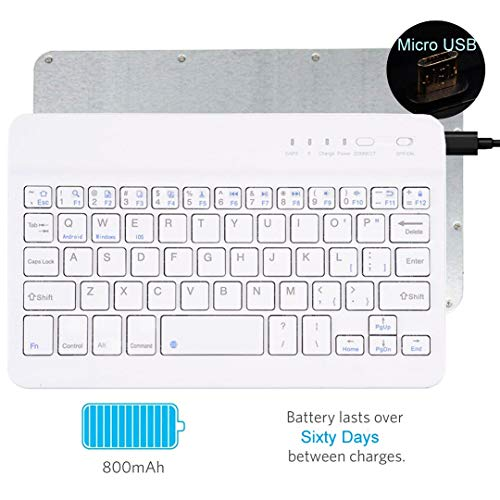 "tastiera per tablet 7 pollici Tempo QWERTY Italiano Layout Tastiera Wireless Bluetooth Keyboard 7"" Compatibile Qualsiasi Android / Windows /IOS-Smartphone Tablet"
