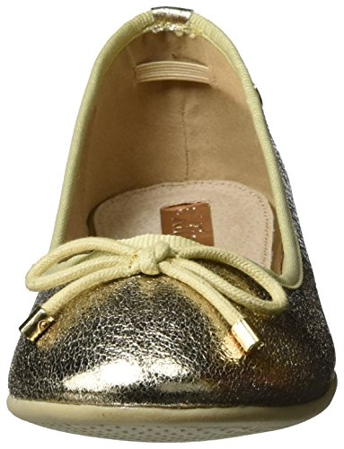 XTI - Gold Metallic Ladies Shoes ., Ballerine Donna Oro (gold)