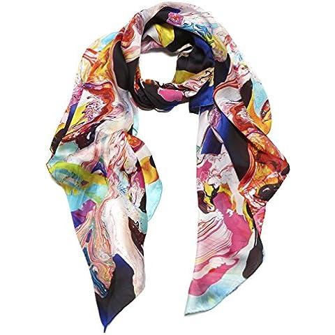 LUSH DIVINE Sciarpa Fashion da Designer Lunga Stampata da Donna