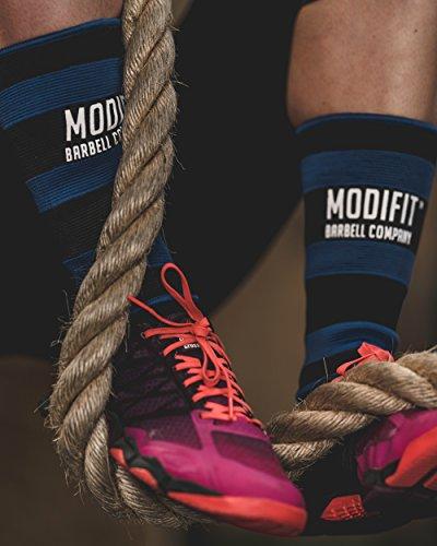 modifit cuerda Climb espinilleras (par)-3colores disponibles, proteger las espinillas de rope climbs para bicicleta de montaña caja saltos y otras necesidades de fitness y deportes de fuerza, azul y negro