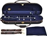 Steinbach 4/4 Geigenkoffer elegante Form dunkelblau mit Rucksackgarnitur