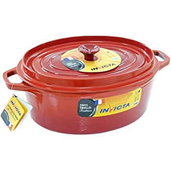 3db75f7b1bd725 Invicta - 30331 - Cocotte ovale - Rouge - 31 cm  Amazon.fr  Cuisine ...