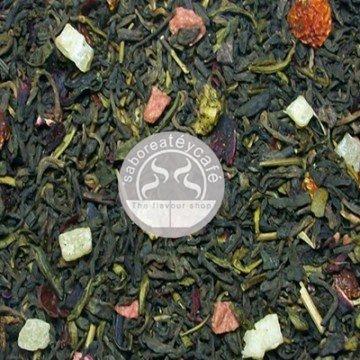 SABOREATE Y CAFE THE FLAVOUR SHOP Thé Rouge Pu Erh Yunnan Chine Corps de Désir Dans Des Infusions Naturelles De Feuille En Vrac De Hebra Amincissant 100 Grammes
