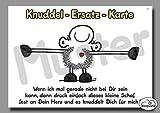 Sheepworld - 50497 - Postkarte, Knuddel Ersatz Karte, Pappe