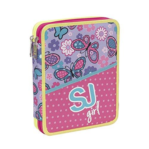 ee86947eee ASTUCCIO scuola SEVEN MAXI – SJ GIRL – 2 scomparti – pennarelli matite  gomma ecc.. Rosa Blu