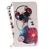 Chreey Sony Xperia XA Ultra / C6 Hülle, [Lustige Tier] Serie Bookstyle PU Leder Flip Case Handy Schutzhülle Brieftasche Etui Schutz Tasche Cover mit Ständer Kartenfächer [Technischer Hund]