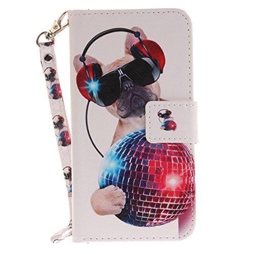 Chreey Huawei P8 Lite 2017 Hülle, [Lustige Tier] Serie Bookstyle PU Leder Flip Case Handy Schutzhülle Brieftasche Etui Schutz Tasche Cover mit Ständer Kartenfächer [Technischer H&]