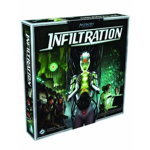 Infiltration: Android Universe [With 1 Six-Sided Die and Room, Operative, Action, Item, Special, Npc Cards and Tokens, Markers, St