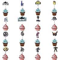 Hizoop 16 Piezas cumpleaños Topper Pastel, Tema de Videojuegos Suministros Fiesta decoración de la Torta