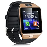 DUJ-INTERNATIONAL-DZ09-Bluetooth-Smart-Watch-Brown
