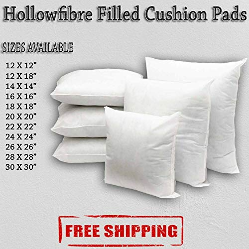 Anti Allergy Hollowfibre Cushions Pads Inners Inserts Fillers Scatters Pack of 6 Home Decor