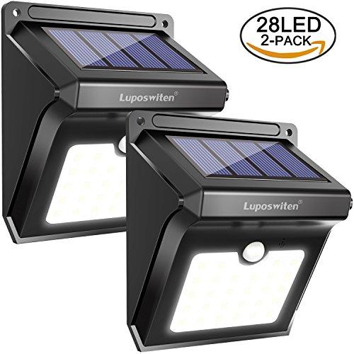 Luposwiten 2 Pack Lampade Solari Da Esterno 28 Led Luci Wireless Di