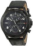 Tommy Hilfiger Homme Multi-cadrans Quartz Montres bracelet avec bracelet en Cuir -...