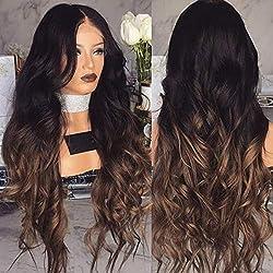 Pelucas largas y rizadas de pelo sintético para mujer, color rubio