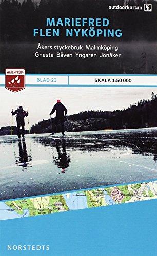 Outdoorkartan Schweden 23 Mariefred -  Flen - Nyköping 1 : 50 000: amtliche Karte