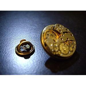 Herren Steampunk Uhrbewegung Revers Anstecknadel