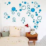 ufengke home Wandsticker Blaue Blasen und Kreise Einfache Minimalistischen Stil Dekoration Wandaufkleber Abnehmbare DIY Vinyl Wandtattoos für Wohnzimmer, Schlafzimmer
