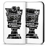 DeinDesign Samsung Galaxy S7 Leder Flip Case Tasche Hülle Eintracht Frankfurt Adler Pokal Finale