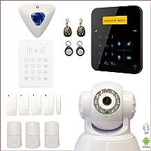 Alarma Casa inalámbrico A9GSM con teclado y sirena déportés + cámara IP WIFI rotativa–Casa T4