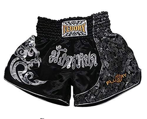 FLUORY Muay Thai Fight Shorts, MMA Shorts Bekleidung Training Käfig Kampf Grappling Martial Arts Kickboxing Shorts Kleidung - Herren-käfig