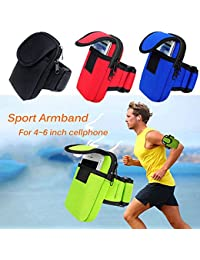 EasyBuy India Blueee : Universal Running Sport Arm Band Arm Bags Pouch Fitness Cycling Sport Running Wrist Pouch...