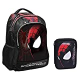 Zaino Scuola Grande Marvel SpiderMan 2 + Astuccio 2 Zip Completamente Accessoriato immagine