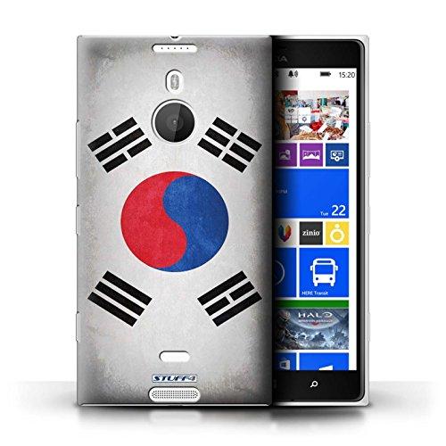 Coque en plastique pour Nokia Lumia 1520 Collection Drapeau - Finlande/finlandais Corée/coréen