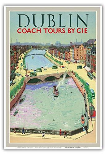 dublino-irlanda-by-cie-coach-tours-coras-iompair-eireann-oconnell-del-ponte-sul-fiume-liffey-poster-