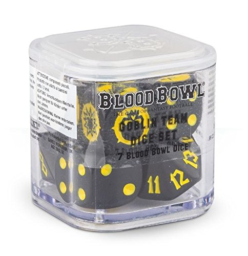 Blood Bowl - Cubo de dados de equipo Goblin de Blood Bowl