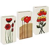 COM-FOUR ® per termosifone in ceramica, Umidificatore in diversi designs 03 Stück - Blumen