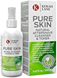 Kerah Lane Pure Skin - Natural Toner & Cleanser for Treatment of Ingrown Hairs, Acne & Razor Bumps. Use After Shaving, Waxing & Hair Removal or as a General Skin Care Solution for Women & Men (250mL)