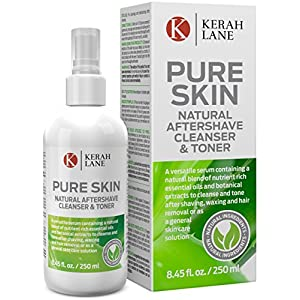 Kerah Lane Pure Skin – Natural Toner & Cleanser for Treatment of Ingrown Hairs, Acne & Razor Bumps. Use After Shaving…