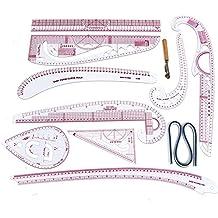 Regla francesa Curva Regla de corte de herramientas de costura Set yardstick manga del brazo francesa