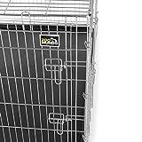 ZOOMUNDO-Portador-Jaula-plegable-metlica-para-mascotas-para-perros-gatos-XXL-dos-puertas-121-cm-largo