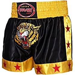 Muay Thai Kick Boxeo Corto Tiger (tamaño Mediano)