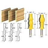 akuta (1/2Zoll) Schaft, 2Bohrer-Bit-Set, mit Messerblock, Zapfenschneider, für Holz