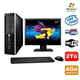 Lot PC HP Elite 6000 Pro SFF E5400 2.7 GHz 4GB Disk 2To WIFI W7 Pro + Screen 17
