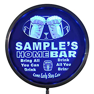 AdvPro Custom rs-p-tm-b Name Personalized Custom Home Bar Beer Round LED Sign 10