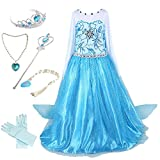 Anbelarui Girls Princess Dress UP Kids Fancy Dresses Birthday Party Cosplay Costume