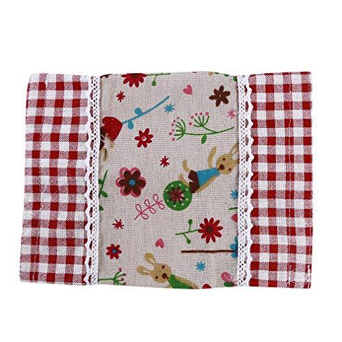 LnLyin Tissue Box Lace Blumen Animal Print Baumwolle Leinen Tissue Holder Serviette Papier Container Pouch Home Schule Büro Auto Decor, Typ 1