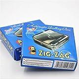 OCB Máquina para Liar Cigarrillos 16925 Zig Zag Rolling para Unos Cigarrillos, Cromo, Plateado, 8 x 8 x 2cm