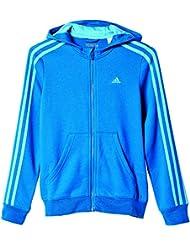 adidas Yg Ess 3S Fz Br - Sudadera para niña de 14-15 años, color azul