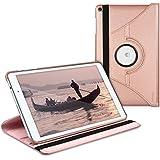 kwmobile Funda para Huawei MediaPad T2 10.0 Pro - Case de 360 grados de cuero sintético para tablet - Smart Cover completo y plegable para tableta en oro rosa